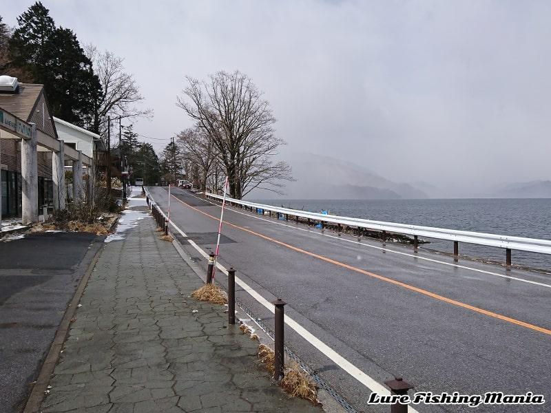 降雪も路面状況は意外と良好