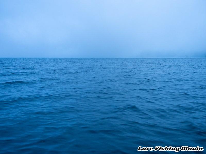 最後まで霧に包まれた中禅寺湖